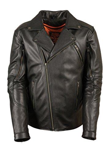 Milwaukee Men's Vented Updated Motorcycle Jacket (black, 4x-large)