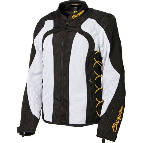Scorpion Nip Tuck Ii Women's Textile Vented Sports Bike Racing Motorcycle Jacket - Gold / Large