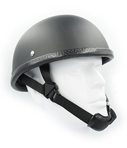Hot Rides Classic Chopper Biker Motorcycle Helmet Novelty For Cruiser Harley Scooter ATV Eagle Flat Black X-Large