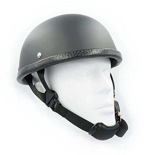 Hot Rides Classic Chopper Biker Motorcycle Helmet Novelty For Cruiser Harley Scooter ATV Turtle Flat Black X-Large