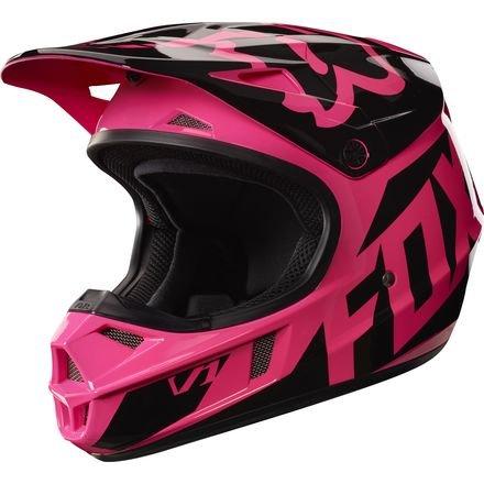 Fox Racing 2017 Race Youth V1 Motocross Motorcycle Helmet - Pink  Medium