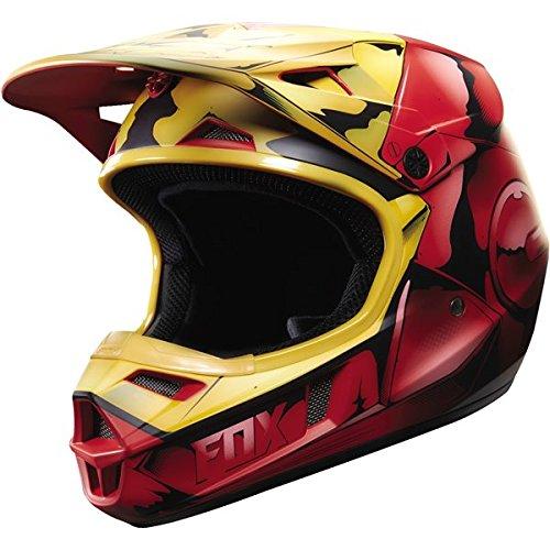 Fox Racing Iron Man Youth V1 Motocross Motorcycle Helmet - Red  Small