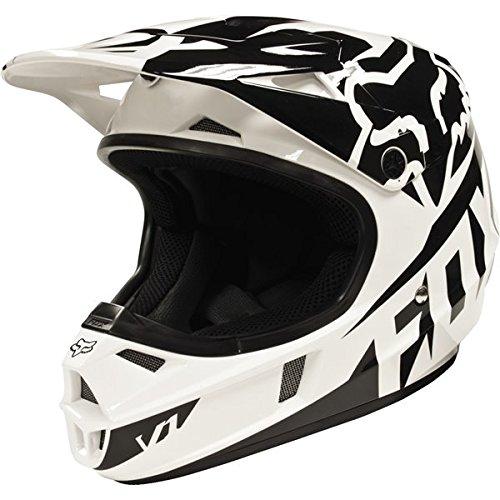 Fox Racing Race Youth V1 Motocross Motorcycle Helmet - Black  Small