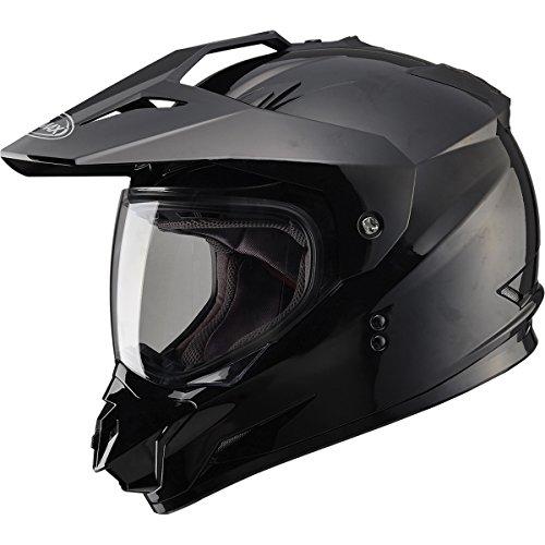 GMAX GM11 DS Solid Mens Motocross Motorcycle Helmet - Black  Large