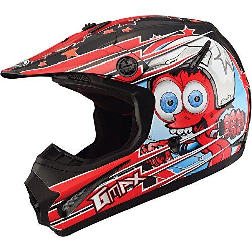 GMAX GM462 Superstar Youth Boys Motocross Motorcycle Helmet - BlackRed  Medium