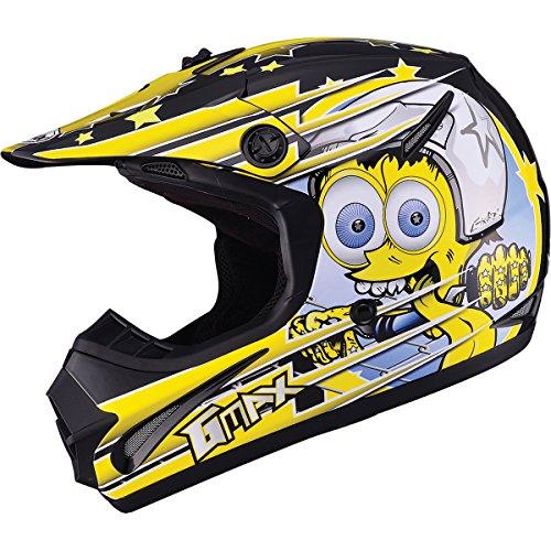 GMAX GM462 Superstar Youth Boys Motocross Motorcycle Helmet - BlackYellow  Small
