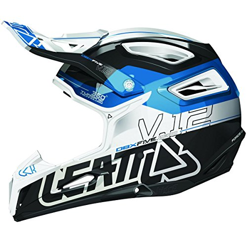 Leatt DBX 50 V12 Adult Off-RoadMotocross Motorcycle Helmet - BlackOrangeWhite  Large