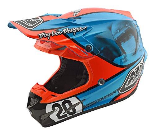 Troy Lee Designs Composite Mcqueen Adult SE4 Motocross Motorcycle Helmet - BlueOrange  Medium