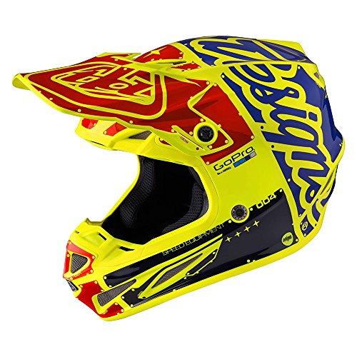 Troy Lee Designs Factory Adult SE4 Carbon Motocross Motorcycle Helmet - Flo Yellow  Large