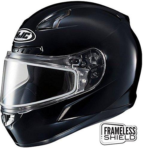 HJC CL-17 Snow Helmet Gloss Black Double Lens 4XL