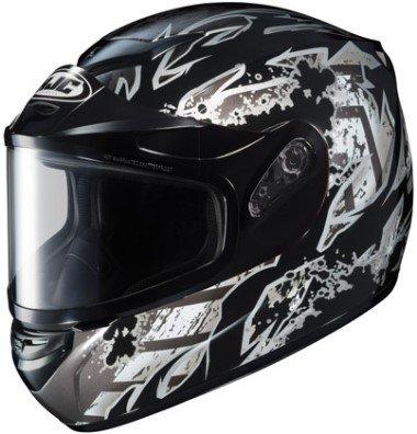 HJC CS-R2 Skarr Graphic Snow Helmet Black Dual Lens