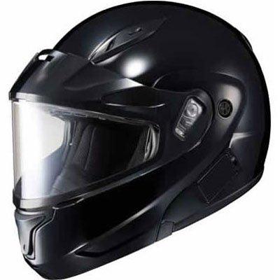 HJC Solid Mens CL-Max II Snow Racing Snowmobile Helmet - Black  Large