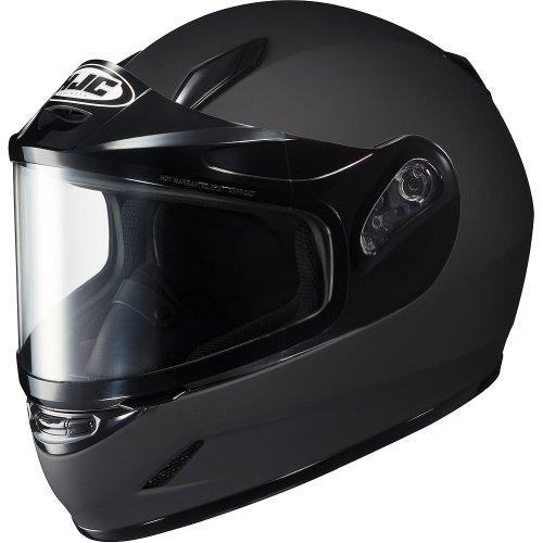 HJC Solid Youth Boys CL-Y Sport Racing Snowmobile Helmet - Matte Black  Large