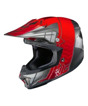 Hjc Snowmobile Helmet - Cl-X7 Cross Up Mc1 Red Xsm
