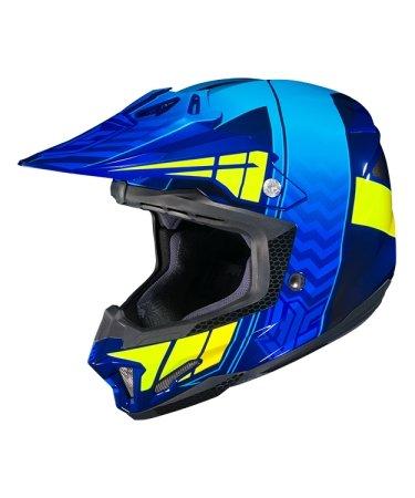 Hjc Snowmobile Helmet - Cl-X7 Cross Up Mc2H BlHv Sm