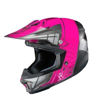 Hjc Snowmobile Helmet - Cl-X7 Cross Up Mc8 Pnk Sml
