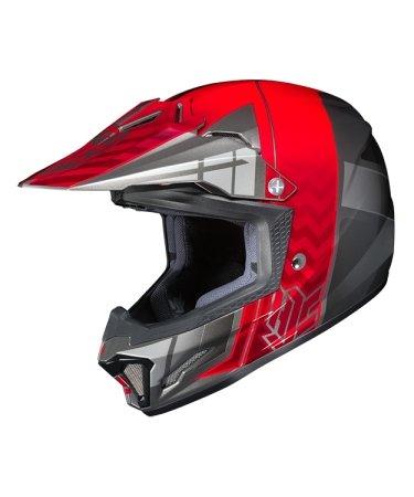 Hjc Snowmobile Helmet - Cl-Xy Ii Cross Up Mc1 Red Sm