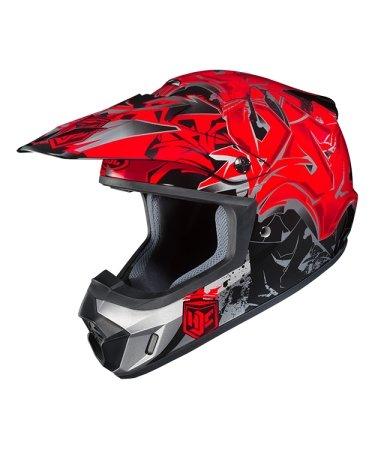 Hjc Snowmobile Helmet - Cs-Mx Ii Graffed Mc1 Red Sml