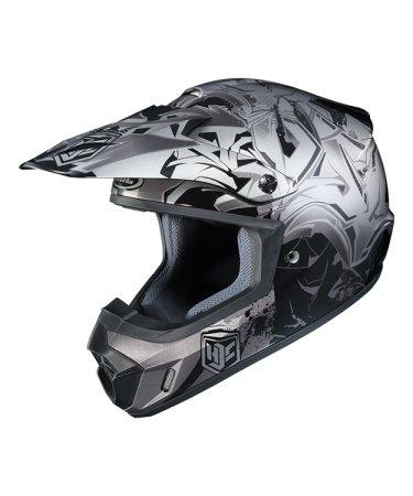Hjc Snowmobile Helmet - Cs-Mx Ii Graffed Mc5 Sil Lrg