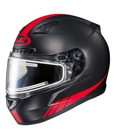 Hjc Snowmobile Helmet - Heated Shield - El Cl17 S-Lne Mc1F Red 2X