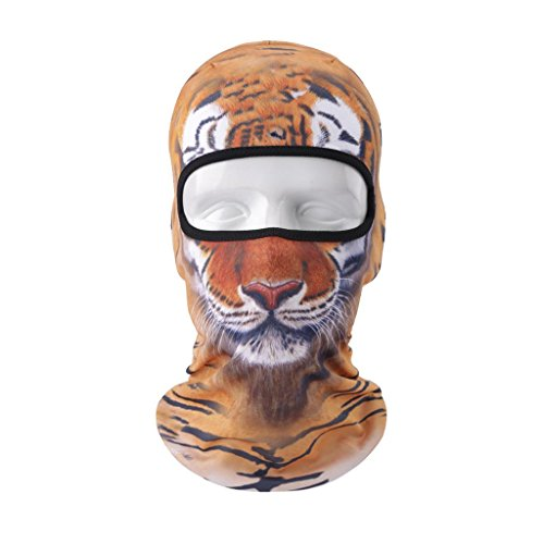 VERTAST Balaclava Face Mask 2017 New Design 3D Animal Active Full Face Mask for Skiing Cycling Motorcycling Helmet Liner Hiking Camping Neck Warmer Tiger