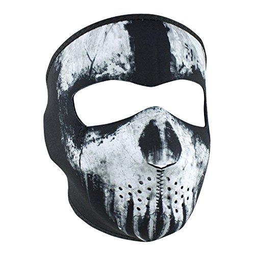 ZANheadgear Neoprene Full Face Mask Skull Ghost