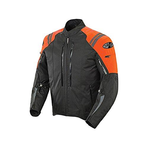 Joe Rocket Atomic 4.0 Men's Textile On-road Motorcycle Jacket - Black/orange / Large