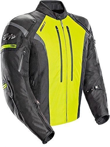 Joe Rocket Atomic 5.0 Mens Black/hi-viz Yellow Textile Jacket - Medium