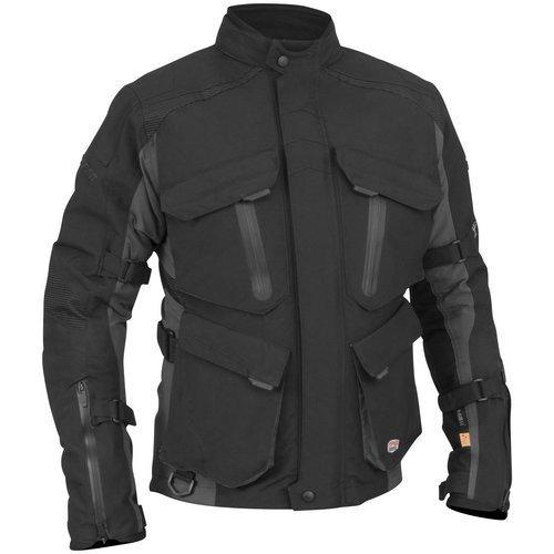 Juicy Trendz Motorcycle Motorbike Biker Cordura Waterproof Textile Jacket Gray X Large