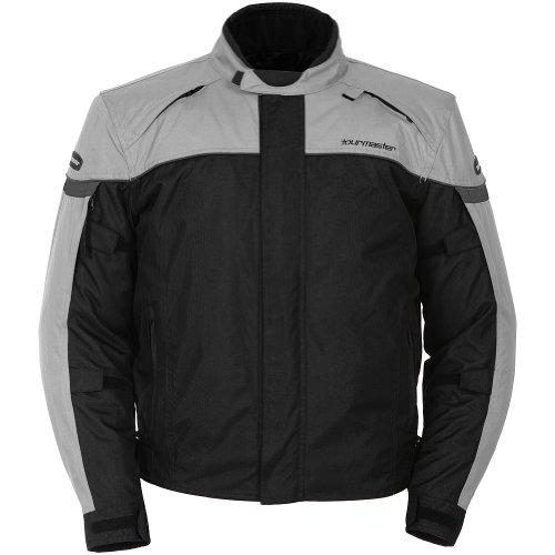Tour Master Jett Series 3 Men's Textile Sports Bike Motorcycle Jacket - Silver/black / 2x-large