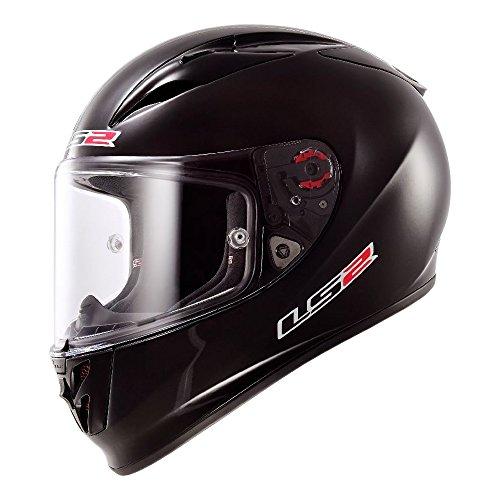 LS2 Arrow Solid Full Face Motorcycle Helmet Black X-Large