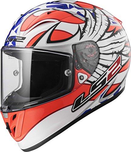 LS2 Arrow white Freedom Graphic Road Racing Helmet XX-Large