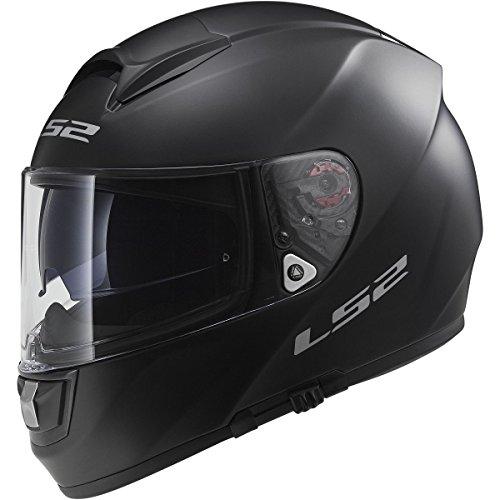 LS2 Helmets Citation Solid Full Face Motorcycle Helmet with Sunshield Matte Black Large