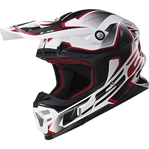LS2 Helmets Light Compass Off-Road MX Motorcycle Helmet Red Large