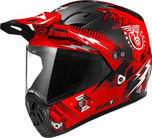 LS2 Helmets Moto Factory Unisex-Adult Full-Face-Helmet-Style OHM Adult Helmet Matt Red Medium