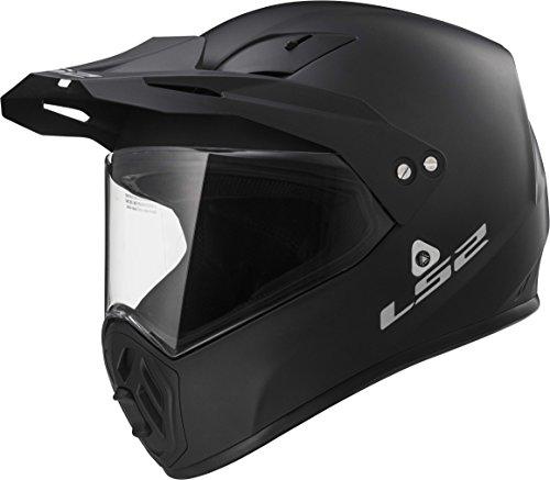LS2 Helmets Solid Unisex-Adult Full-Face-Helmet-Style OHM Adult Matt Black Medium