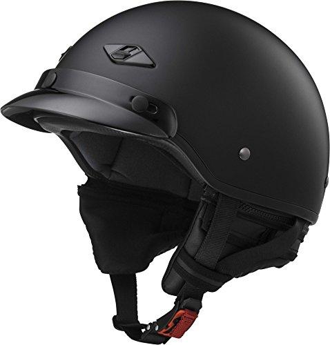 LS2 Helmets Unisex-Adult Half-Size-Helmet-Style Bagger Helmet Matt Black X-Large