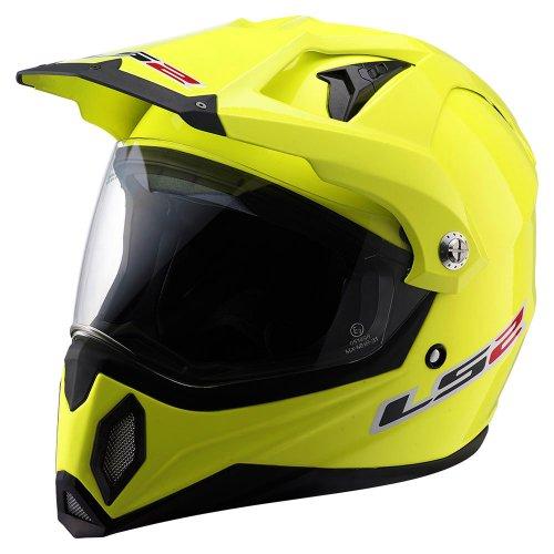 LS2 MX453 Solid Off Road Helmet  Hi-Vis Yellow Medium