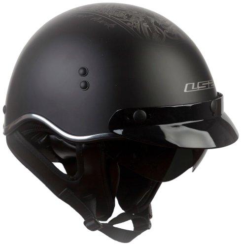 LS2 SC3 Helmet with Hard Luck Graphic Matte Black Medium