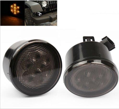 Sunpie Amber Front Led Turn Signal Light Assembly For 2007~2016 Jeep Wrangler Jk Turn Lamp Fender Flares Eyebrow