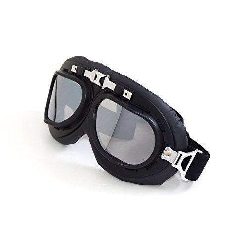 Kansmart Adult Retro Style Motorcycle Goggles Motorbike Flying Scooter Aviator Helmet Anti-uv Glasses (silver)