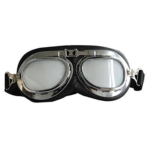 Xidaje Store New Vintage Style Motorcycle Goggles Helmet Glasses Eye Wear