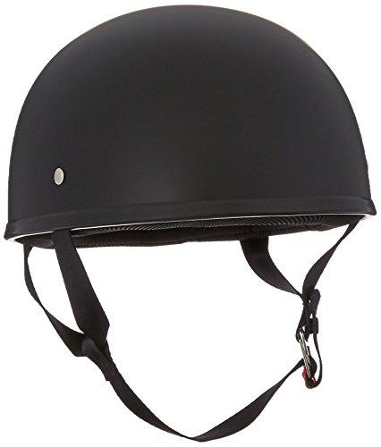 LS2 Helmets Stripper Unisex-Adult Half Helmet Motorcycle Helmet Matte Black XX-Large