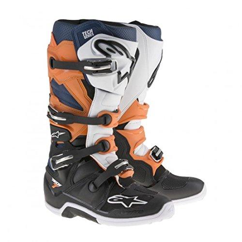 Alpinestars Tech 7 Mens Motocross Boots - OrangeBlue - 11