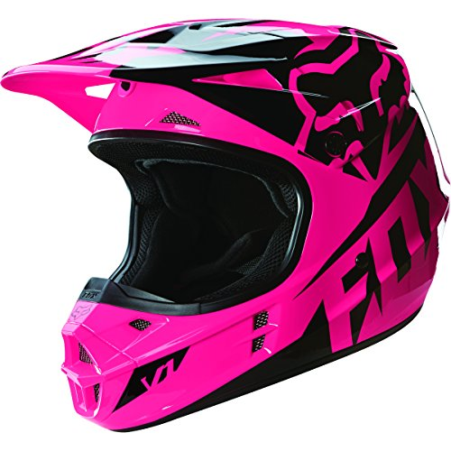 Fox Racing 2016 Race Mens V1 Motocross Motorcycle Helmet - Pink  Medium
