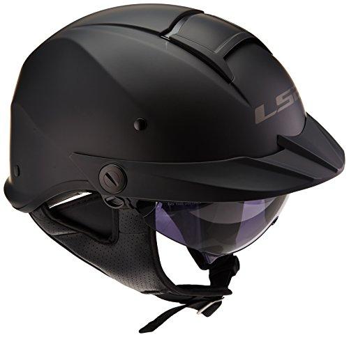 LS2 Helmets Rebellion Unisex-Adult Half Helmet Motorcycle Helmet Matte Black Large