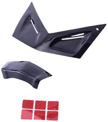 Bestem CBBM-K13S-FFR-M-KIT Black Carbon Fiber Full Front Fairing Covers - 2 Piece for BMW K1300S
