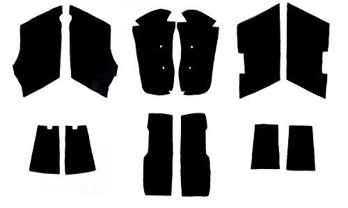 Black Saddlebag Carpet Liner Kit for Harley-Davidson Standard Saddlebags 1993-2013 Electra Glide Road Glide Road King Street Glide