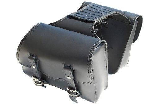 La Rosa Harley-Davidson Sportster XL Black Leather Throw Over Left Right Saddlebags
