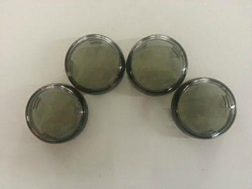 "Harley Davidson Smoked Turn Signal Lens Covers Lenses 2 3/8"" Repl. Oem# 68973-00"